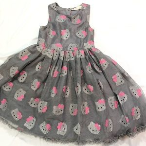 HELLO KITTY H&M SILVER GLITTERY SPARKLY DRESS